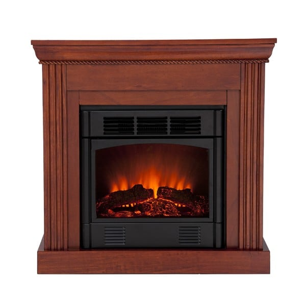 Martel Classic Mahogany Convertible Petite Electric Fireplace
