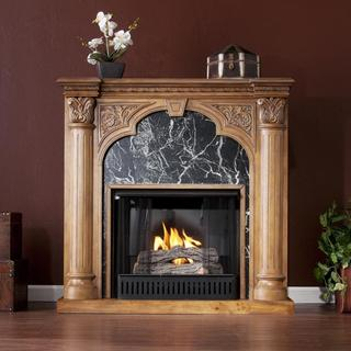 Vickery Old World Oak Gel Fuel Fireplace