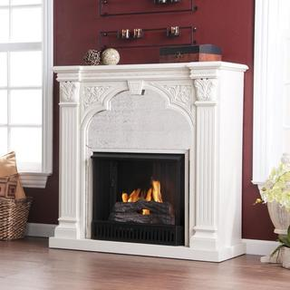 Kidwell Antique White Gel Fuel Fireplace