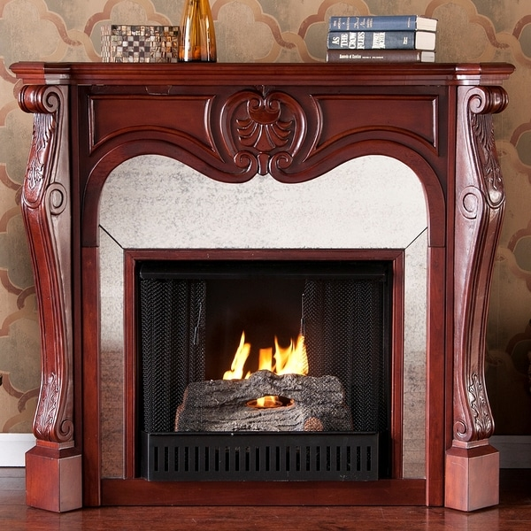 Garrett Cherry Gel Fuel Fireplace