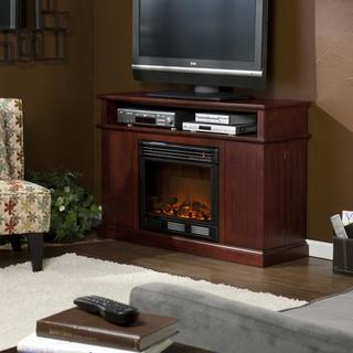 Hensley Cherry Media Console Fireplace