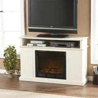 Hensley Ivory Media Console Fireplace