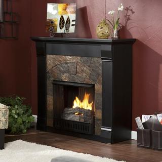 Stonegate Black Gel Fuel Fireplace