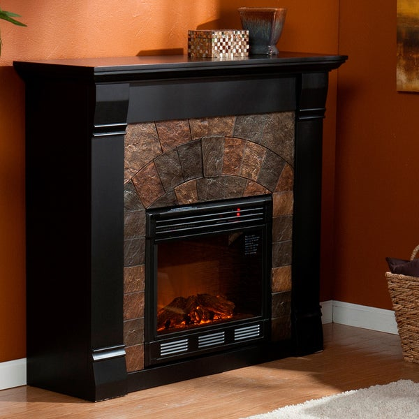 Stonegate Black Electric Fireplace
