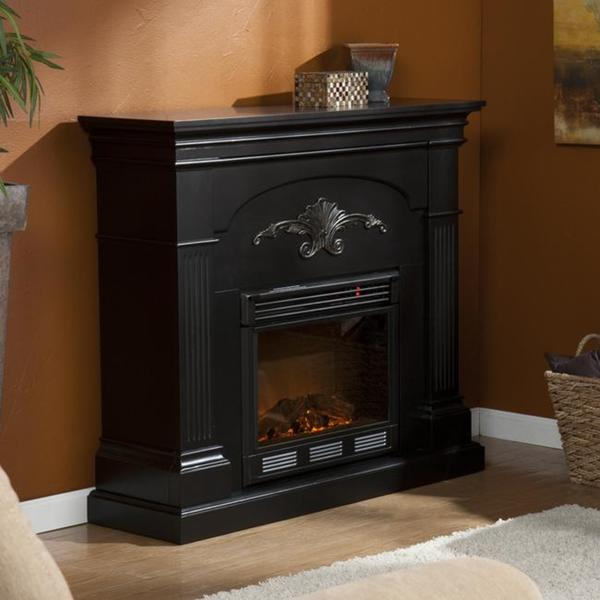 Gilbert Black Electric Fireplace 13871301 Overstock