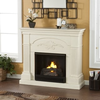 Upton Home Gilbert Ivory Gel Fuel Fireplace
