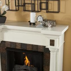 Upton Home Blanchard Ivory Gel Fuel Fireplace