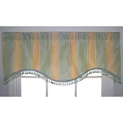 Sios Silk Stripe Cornice Valance