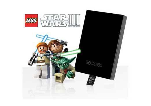 Xbox 360 320GB Hard Drive w/Lego Star Wars Clone Wars