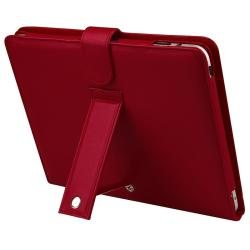 Red Leather Case/ Screen Protector/ Stylus for Apple iPad