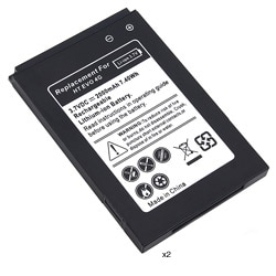 Black Li-ion 3.7v Replacement Battery for HTC EVO 4G (Pack of Two)