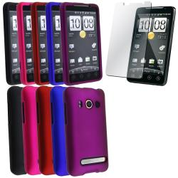 Rubber Coated Cases/ Screen Protectors for HTC EVO 4G