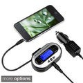 Universal Black All-channel FM transmitter with USB Port