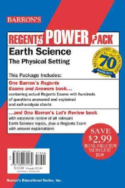 Regents Power Pack Earth Science: Lets Review: The Physical Setting / Barron's Regents Exams and Answers (Paperback)