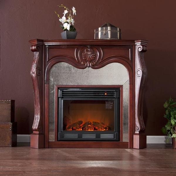 Garrett Cherry Electric Fireplace
