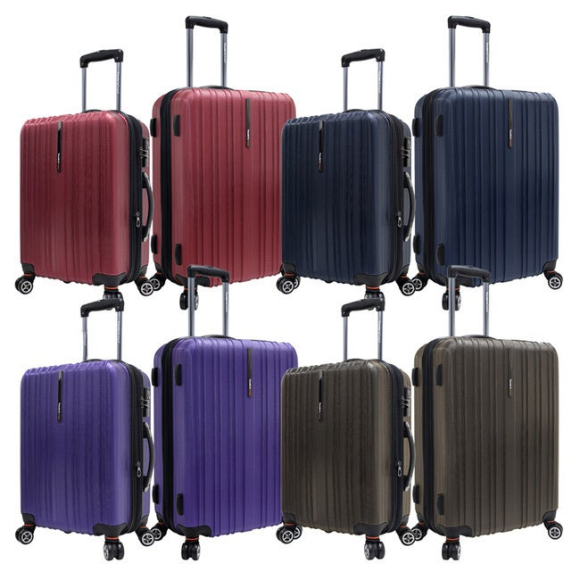 Luggage by O Traveler's Choice TC5002 Tasmania Polycarbonate 2-piece Expandable 8-wheel Spinner Luggage Set at Sears.com