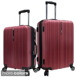Traveler's Choice Tasmania Polycarbonate 2-piece Expandable 8-wheel Spinner Luggage Set