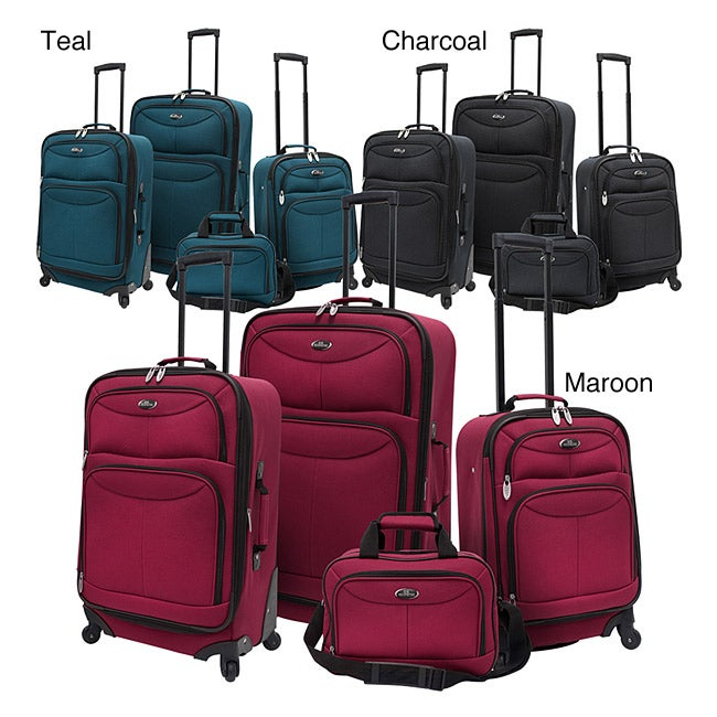 Luggage by O U.S. Traveler US3600 4-piece Expandable Spinner Luggage Set at Sears.com