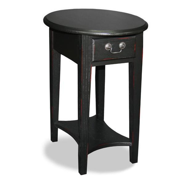 Hardwood Oval Side Table