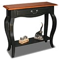 Brown Cherry/ Slate Solid Wood Console Table