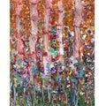 Ankan 'Pink Trees' Gallery-wrapped Canvas Art