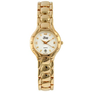 Swiss Edition Women's White-Dial Goldtone Stainless-Steel Watch