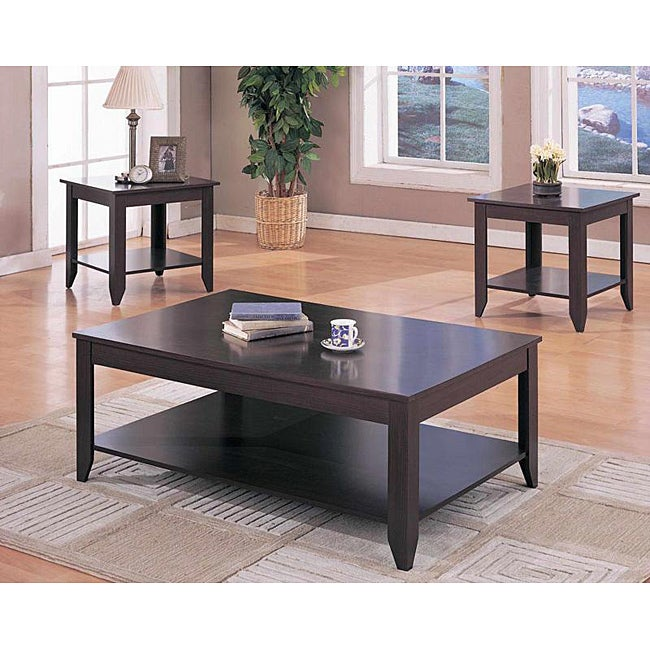 Barkley Console Table: Cappuccino 3-piece Occasional Table Set