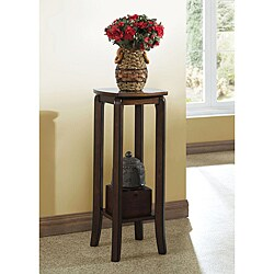 Walnut Solid Top 28-inch Plant Stand