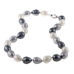 La Preciosa White, Silver and Grey Shell Pearl Necklace