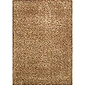 Hand-tufted Silky Shag Modena Brown Rug (4'7 x 6'6)