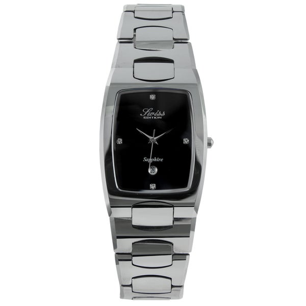 Swiss Edition Men's Rectanglar Tungsten Watch