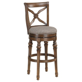 Hadleigh 30-inch Sienna Swivel Bar Stool