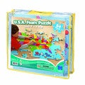 USA Foam Map Floor 54-Piece Puzzle