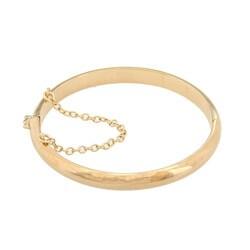Sterling Essentials 14k Goldplated Silver High Polish Baby Bangle Bracelet (5mm)