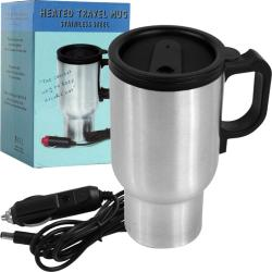 Heated Stainless Steel 12-volt Travel Mug