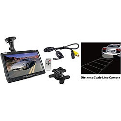 Pyle 7-Inch Window Mount TFT/LCD Video Monitor w/ Universal Mount Rearview Backup Color Distance Line Camera