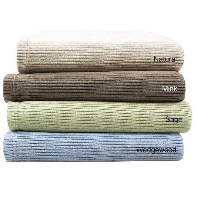 Premier Comfort Ribbed Microfleece Full/ Queen-size Blanket