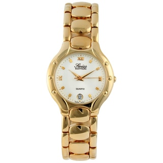 Swiss Edition Men's Goldtone Round Dress Watch