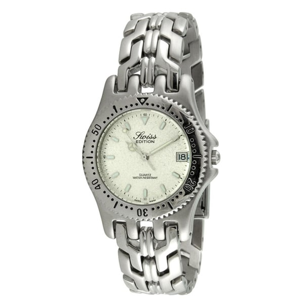 Swiss Edition Men's All Silver Sport Bezel Watch