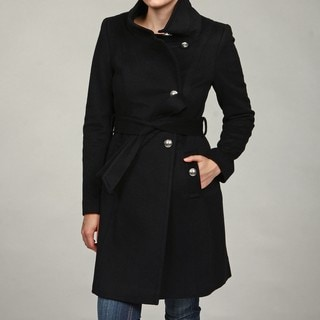 Tahari Women's Wool Miltary Coat