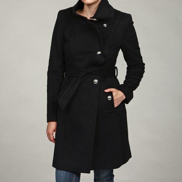 Tahari Women's Wool Miltary Coat