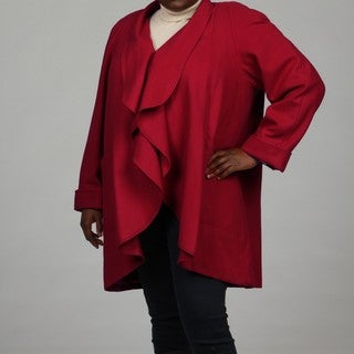 Stephanie Mathews Women's Red Wool-blend Coat