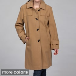 Stephanie Mathews Women's Wool-blend Toggle Coat