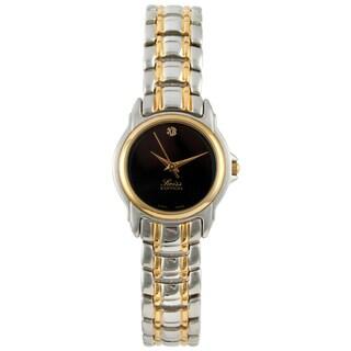 Swiss Edition Women's Two-tone Black Dial Watch
