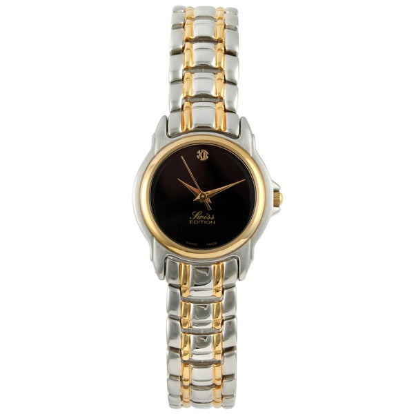 Swiss Edition Women's Two-tone Black Dial Watch