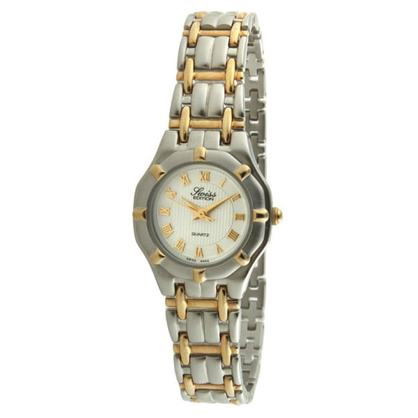 Swiss Edition Women's Two-tone White Dial Watch
