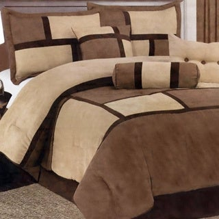Chelsea Contemporary Microsuede and Polyester 7-Piece Comforter Set