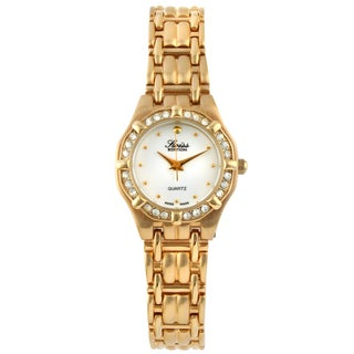 Swiss Edition Women's Crystal Bezel Dress Watch