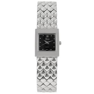 Swiss Edition Women's Silvertone Square Quartz Watch