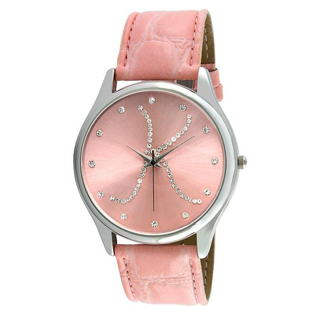 Viva Women's Crystal Initial 'K' Pink Watch